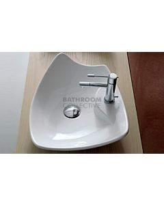 Paco Jaanson - Signature Kong 50R 500mm Top Mounted Basin 1TH Gloss White