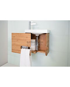 ADP - Bamboo Micro Wall Hung Vanity 400mm, Ceramic Top