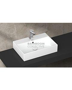 Paco Jaanson - Isvea Purity 600mm Wall / Bench Basin 1TH Gloss White