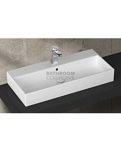 Paco Jaanson - Isvea Purity 910mm Wall / Bench Mounted Basin 1TH Gloss White