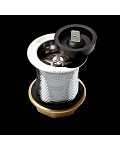 Harbic Brassware - 40mm Bath or Basin Waste with Rubber Plug & 80mm Tail