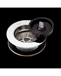 Harbic Brassware - 50m Bath or Sink Waste with Rubber Plug & 45mm Tail