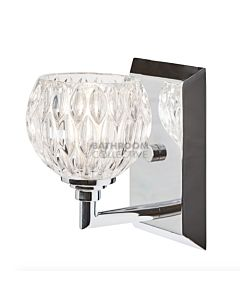 Elstead - Serena Traditional Bathroom Wall Light in Polished Chrome