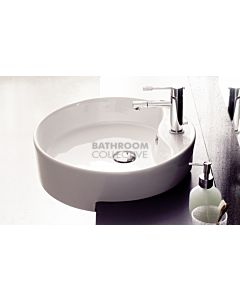 Paco Jaanson - 03 Series Geo 475mm Semi Recessed Basin 1TH Gloss White