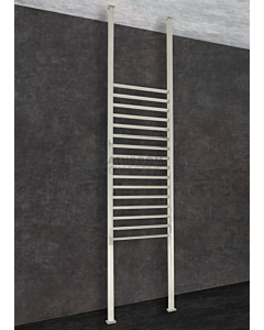 Thermorail - Square Floor to Ceiling Heated Towel Rail POLISHED W700 x H2400-3000 x D40