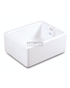 Shaws of Darwen - Belfast Fireclay Sink 595 x 460 x 255mm WHITE