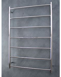 Radiant - Round 7 Bar Towel Ladder 1130H x 800W POLISHED STAINLESS
