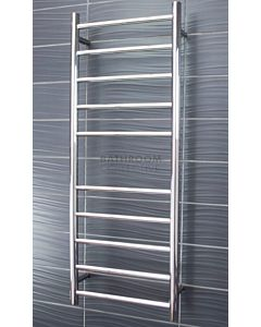 Radiant - Round 10 Bar Heated Towel Ladder 1100H x 430W (right wiring) POLISHED STAINLESS