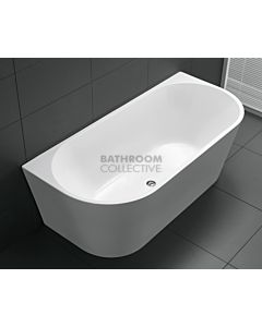 Broadway - Pesaro 1700mm Back To Wall Acrylic Bath WHITE