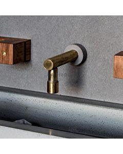 Wood Melbourne - Johannah Long Raw Brass Spout Only with Concrete Trim 130mm