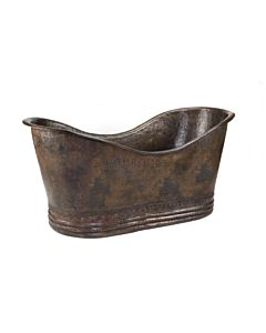 CopperCo - 1702mm Hammered Copper Double Slipper Bathtub
