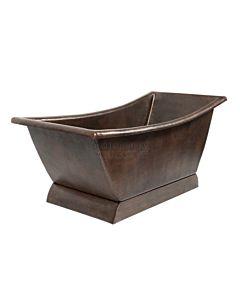 CopperCo - 1702mm Hammered Copper Canoa Single Slipper Bathtub