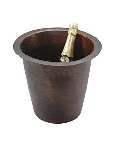 CopperCo - 305mm Round Hammered Copper Champagne Bar/Prep Sink