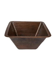 CopperCo - 432mm Large Square Hammered Copper Bar/Prep Sink
