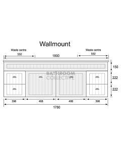 Marquis - Kiama11 1800mm Wall Mounted Vanity with Acrylic Moulded Double Basin Top