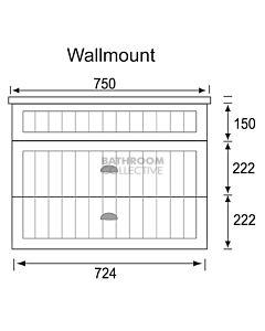Marquis - Kiama13 750mm Wall Mounted Vanity with Acrylic Moulded Single Basin Top
