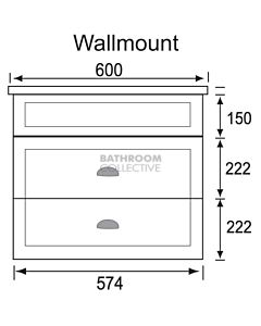 Marquis - Bowral12 600mm Wall Mounted Vanity with Acrylic Moulded Single Basin Top