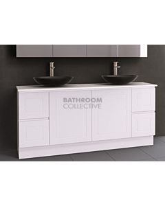 Timberline - Nevada Classic 1800mm Floor Standing Vanity with 20mm Meganite Top and Ceramic Above Counter Double Basin