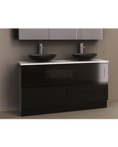 Timberline - Nevada Plus Classic 1500mm Floor Standing Vanity with 20mm Meganite Top and Ceramic Above Counter Double Basin