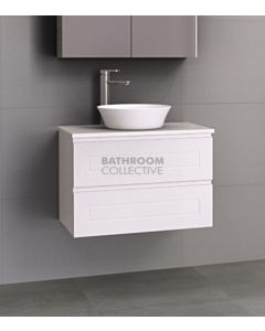 Timberline - Nevada Plus Classic 750mm Wall Hung Vanity with 20mm Meganite Top and Ceramic Above Counter Basin