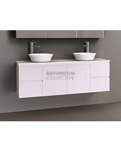 Timberline - Nevada Classic 1500mm Wall Hung Vanity with 20mm Meganite Top and Ceramic Double Above Counter Basin