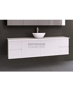 Timberline - Nevada Classic 1800mm Wall Hung Vanity with 20mm Meganite Top and Ceramic Above Counter Basin