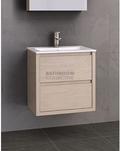 Timberline - Grange 600mm Wall Hung Vanity with Ceramic Top