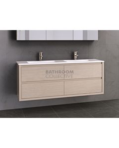 Timberline - Grange 1500mm Wall Hung Vanity with Double Basin Ceramic Top