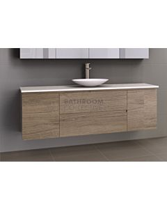 Timberline - Marshall 1800mm Wall Hung Vanity with 20mm Meganite Top and Ceramic Above Counter Basin