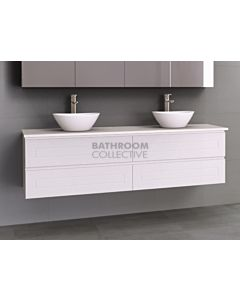 Timberline - Nevada Plus Classic 1800mm Wall Hung Vanity with 20mm Meganite Top and Ceramic Above Counter Double Basin