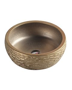 Collections - Trier 410mm Art Gold Counter Top Circular Basin
