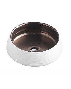 Collections - Trier 410mm Art Matte White Counter Top Circular Basin