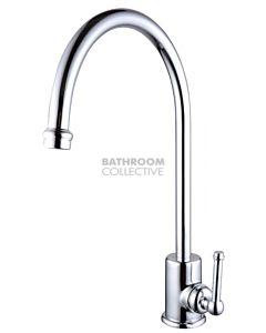Bastow Tapware - Federation Large Gooseneck Sink Mixer CHROME