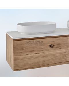Loughlin Furniture - Ashton 600mm Real Timber Wall Hung Vanity