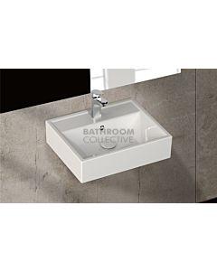 Paco Jaanson - Isvea Sekura 500mm Wall Mounted Basin 1TH Gloss White
