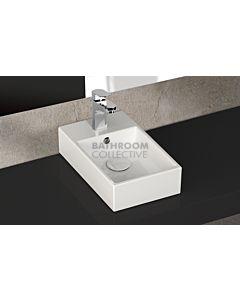 Paco Jaanson - Isvea Sistema Y 255mm Wall / Bench Mounted Wash Basin 1TH Gloss White
