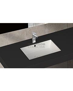 Paco Jaanson - Isvea Soluzione 600mm Rectangular Under Counter Basin Gloss White