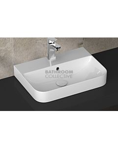 Paco Jaanson - Isvea Sott Aqua Sharp 570mm Wall / Bench Mounted Basin 1TH Gloss White