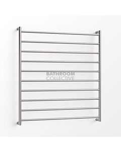 Avenir - Form 1000x900mm Heated Towel Ladder - Brushed Stainless Steel