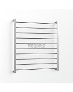 Avenir - Base 1000x900mm Heated Towel Ladder - Mirror Stainless Steel
