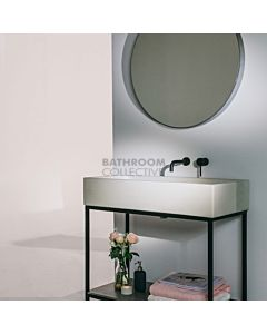 Noodco - The Trough Concrete Sink Vanity Set in Mid Tone Grey