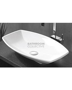 Paco Jaanson - Urban Catita 600mm Bench Mounted Basin Gloss White