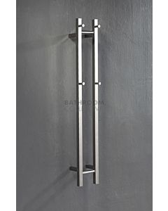 Hotwire Heating - 2 Bar Square Vertical Heated Towel Rail 1200H x 180W x 120D