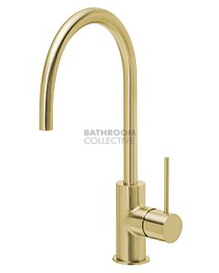 Phoenix Tapware - Vivid Slimline Side Lever Sink Mixer 220mm Gooseneck BRUSHED GOLD