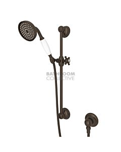 Nicolazzi - Traditional Sliding Rail with Handshower in Tucan Brass with Elbow