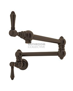 Nicolazzi - 1451 Traditional Wall Mounted Pot Filler in Tuscan Brass with El Capitan Lever Handles