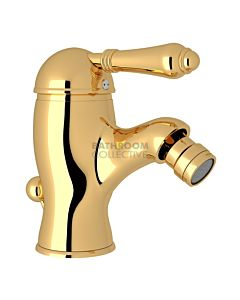Nicolazzi - 3403 Bidet Mixer Tap with Pop Up Waste in Gold with El Capitan Handle