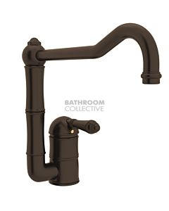 Nicolazzi - 3407 Kitchen Sink Mixer with Off-set Traditional Swivel Spout in Tuscan Brass with El Capitan Handles