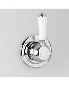 Astra Walker - Olde English Signature Wall Mixer CHROME/WHITE HANDLES A50.48.PL