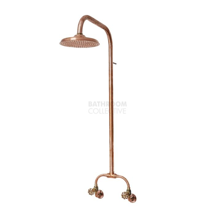 Brooklyn Copper Co - Freshwater Copper Outdoor Shower Set 200mm Rose